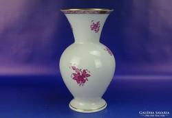 0H769 Lila Apponyi virágos herendi porcelán váza