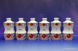 0H744 Kalocsai mintás porcelán fűszertartó készlet