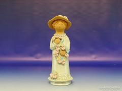 0H751 Antalfiné Szente Katalin kalapos hölgy 27 cm