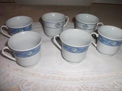 Antik porcelán kávéspohár 6 db eladó!