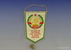 0H888 Retro LTSR Litván sport zászló