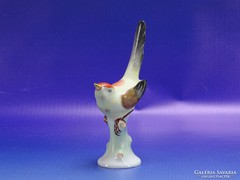 0H835 Régi hollóházi porcelán pinty