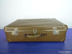 0H854 Retro csehszlovák utazó táska bőrönd koffer