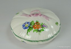 0I266 Hatalmas herendi porcelán szalagos bonbonier