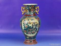 0I033 Régi Satsuma jellegű porcelán váza 21 cm