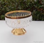 Joska kristály üveg kínáló 24 karátos arannyal