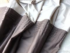 Drapp / barna sötétítő függöny párban