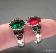 Kuriózum! Antik ezüst gyűrűk párban