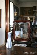Art deco porcelán váza - kék színű, csíkos minta