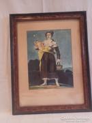 Jelzett akvarell festmény