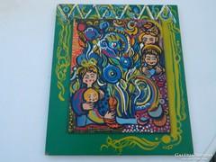 Jelzett kvalitásos ikonszerű különleges festmény