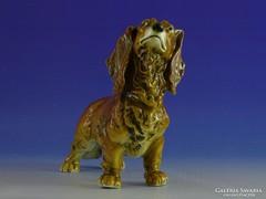 0I493 Régi ENS tacskó porcelán kutya figura