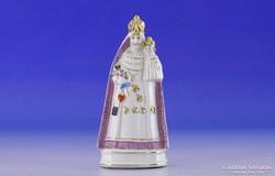 0I318 Antik porcelán szobor Mária gyermekével