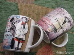 Új romantikus teás bögre-csésze reggeliző -ha szép és különleges kell