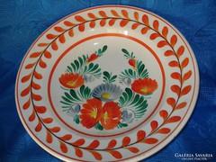 Hollóházi porcelán festett falitányér