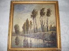 Nyárádi olaj farost festmény keretben
