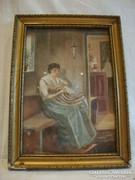 Bihary akvarell festmény