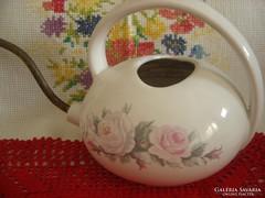 Rózsás porcelán-réz öntözőkanna