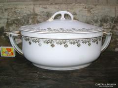 Antik porcelán levesestál