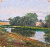 XX. századi magyar festő: Vízparti táj