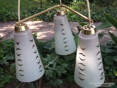 Retro menyezeti lámpa-csillár 60-70-es évek