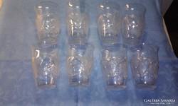 8 db. vizes kristálypohár