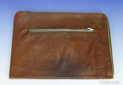 0I337 Régi valódi bőr táska bőrtáska laptáska