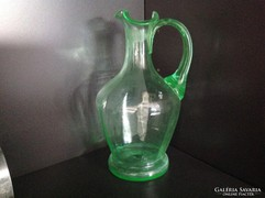 Zöld hutaüveg vizeskancsó