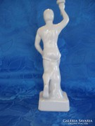 Porcelán olimpiai gyertyatartó futó figurás