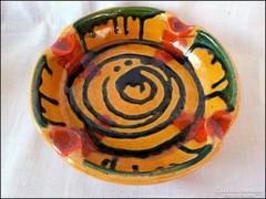 Iparművész kerámia hamutál - asztalközép