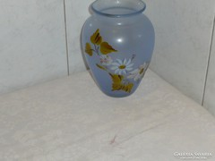 Kézzel festett üveg váza 18 cm