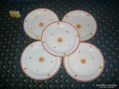 Zsolnay süteményes tányér - öt darab - együtt eladó