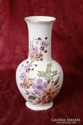 Zsolnay virágos váza (26 cm magas)