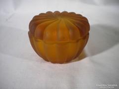 Q552 Régi art deco cseh üveg bonbonier