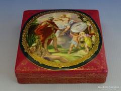 0G209 Imperial Austria jelenetes kocka bonbonier
