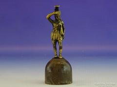 0B004 Régi egyiptomi katona bronz íjász szobor