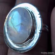 925 ezüst gyűrű, 17,3/54,3 mm szivárványos holdkő