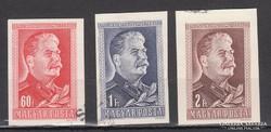 1949-50. J.V.Sztálin, MPIK#1122-24. vágott-futott,