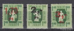 1953.Kisegítőbélyeg V., MPIK#1408-10,kat.ár 1500,-