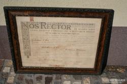 Nos Rector diploma