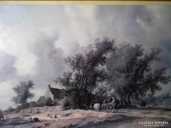 S290 Salomon Van Ruysdael reprodukció keretezve