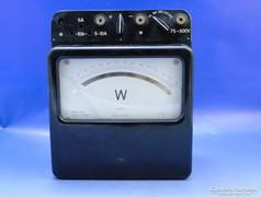 0B689 Antik bakelitházas wattmérő műszer