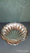Ezüst kagylós kínáló