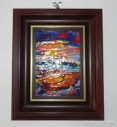 Kolláth Erzsébet - Csónakok : tűzzománc kép