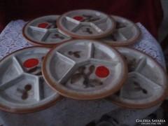 6 db SMF Schramberg kerámia osztott tányér  0906