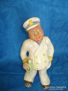 Izsépy(?) kerámia részeg tengerész figura