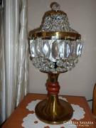 Kristály asztali lámpa gyönyörű állapotban