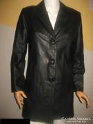 Fekete valódi bőr kabát