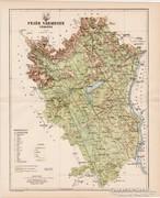 Fejér vármegye térkép 1894, antik, eredeti