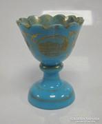 Kék opalin üveg kehely